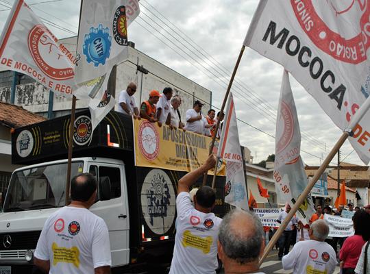 INSS03 Manifestação em frente o INSS em São João da Boa Vista