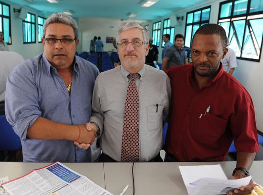 USW Representante da USW visita a Federação dos Metalúrgicos (SP)