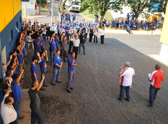 cuiap000 Sindicato realiza Assembleia de PLR e Acordo de Horário de Trabalho na Chiaperini   Santa Rosa de Viterbo