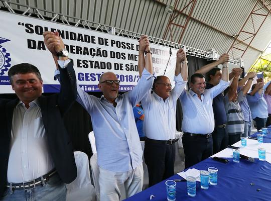 fed000 Toma posse nova diretoria da Federação dos Metalúrgicos do Estado de São Paulo