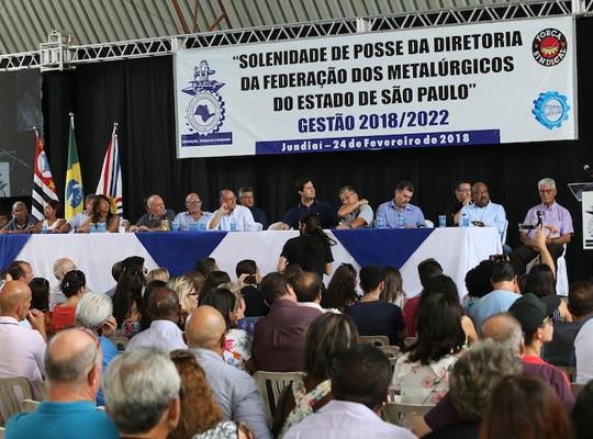 fed001 Toma posse nova diretoria da Federação dos Metalúrgicos do Estado de São Paulo