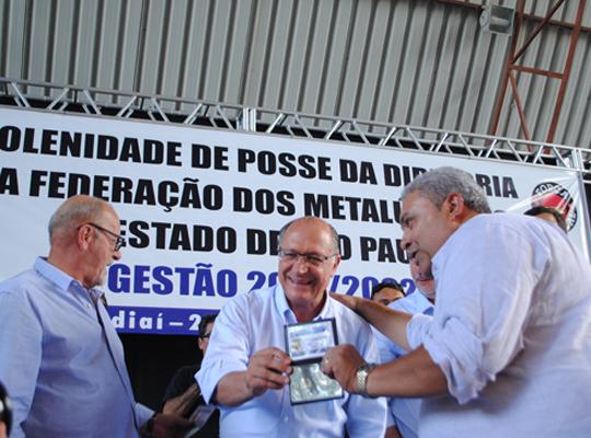 fed002 Toma posse nova diretoria da Federação dos Metalúrgicos do Estado de São Paulo