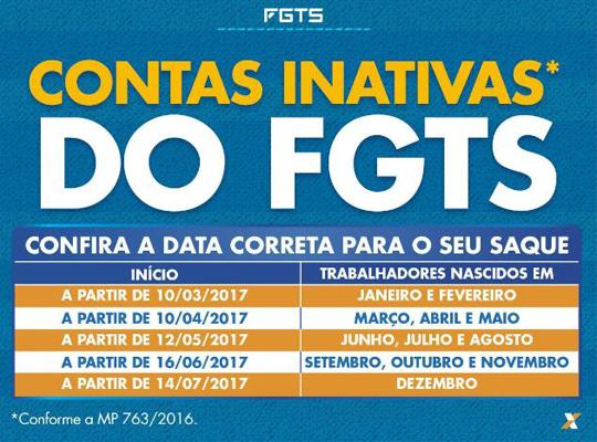 fgts00542 Contas inativas do FGTS: Confira as datas para saques