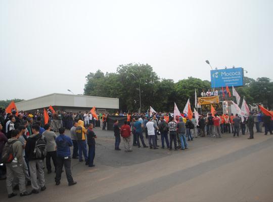 greve003 Ato de Greve Geral mobiliza metalúrgicos em Mococa
