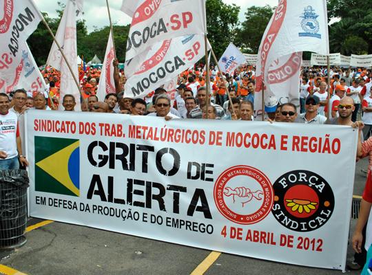 gritoalerta201201 São Paulo (SP): Metalúrgicos de Mococa contra desindustrialização