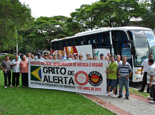 gritoalerta201202 São Paulo (SP): Metalúrgicos de Mococa contra desindustrialização