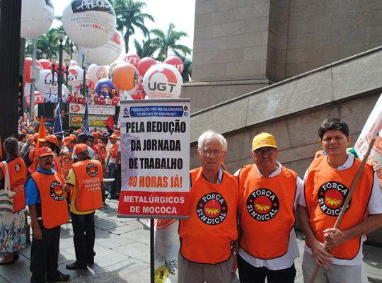 marcha02 Metalúrgicos de Mococa presentes   8ª Marcha reúne 40 mil trabalhadores em São Paulo