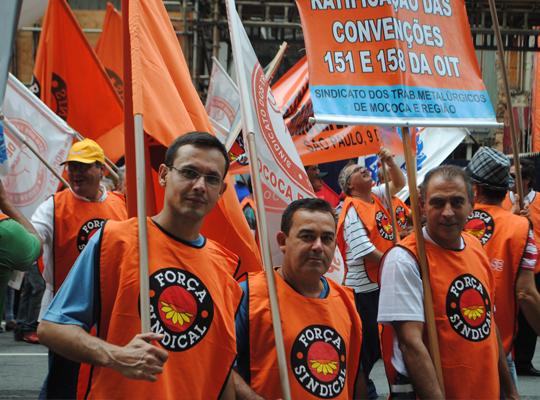 marcha03 Metalúrgicos de Mococa presentes   8ª Marcha reúne 40 mil trabalhadores em São Paulo