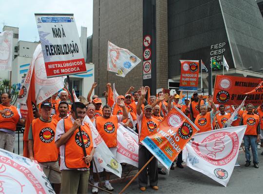 marcha04 Metalúrgicos de Mococa presentes   8ª Marcha reúne 40 mil trabalhadores em São Paulo