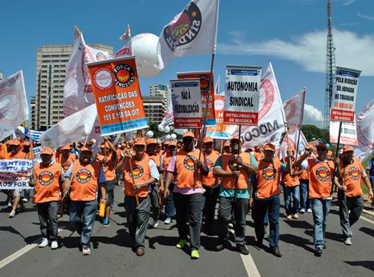 marchacentrais03 7º Marcha das Centrais – Metalúrgicos de Mococa presentes em Brasília DF