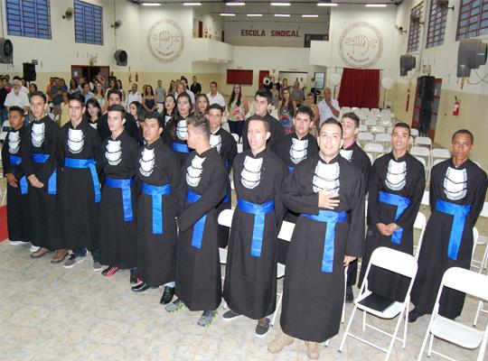 sen001 Sindicato e Senai realizam cerimonia para entrega de certificados de conclusão de curso