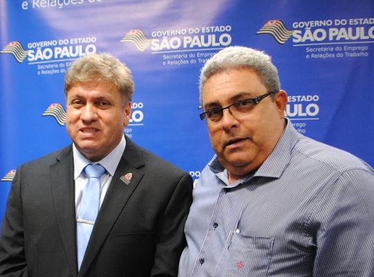 sert011 Chico do Sindicato presente na posse do Secretário do Emprego  José Luiz Ribeiro