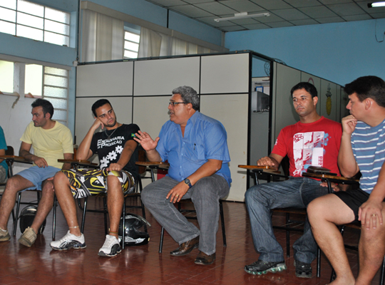 sorteiofut201202 Sorteio define grupos do XIII Campeonato de Futebol Society dos metalúrgicos de Mococa e região