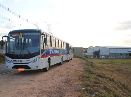 transp01 MAIS UMA CONQUISTA DO SINDICATO   Transporte Coletivo para os empregados da Delphi!