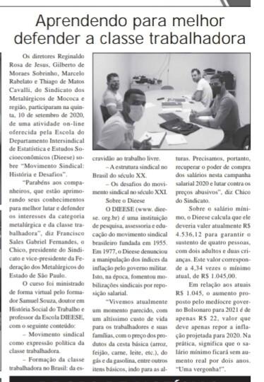 Jornal O Destaque traz matéria do Sindicato