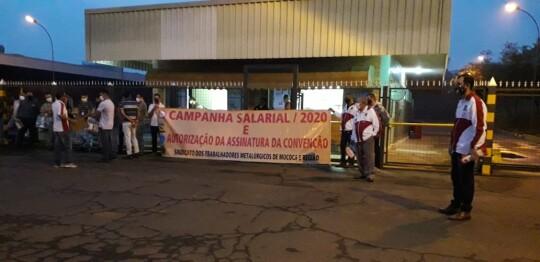 Metalúrgicos de Mococa e região intensificam campanha salarial 2020